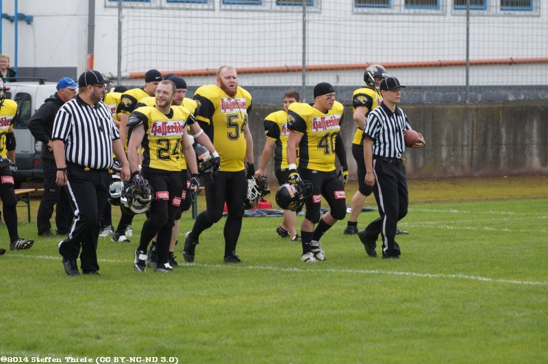 Gameday 31.08.2014 | Crusaders @ Wernigerode Mountain Tigers