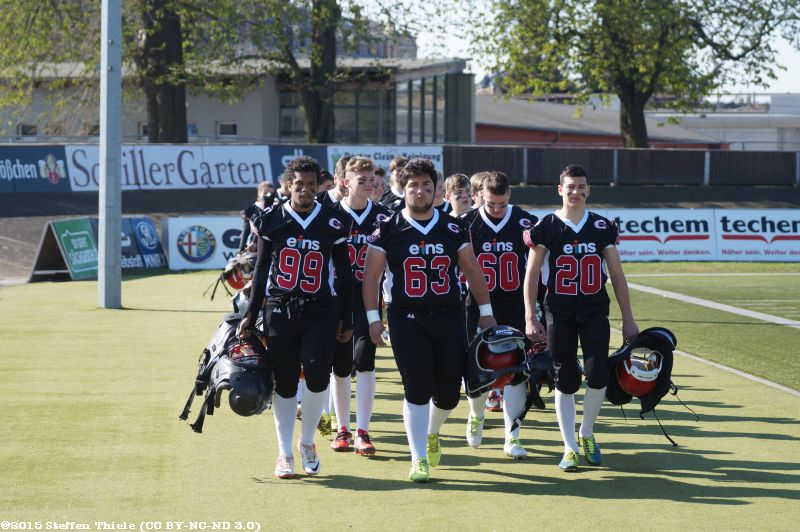 Gameday 19.04.2015 | Claymores @ Dresden Monarchs U16